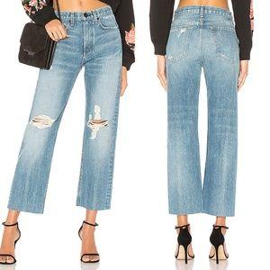 Rag & Bone Straight Leg Raw Hem Jeans in Shaker 27